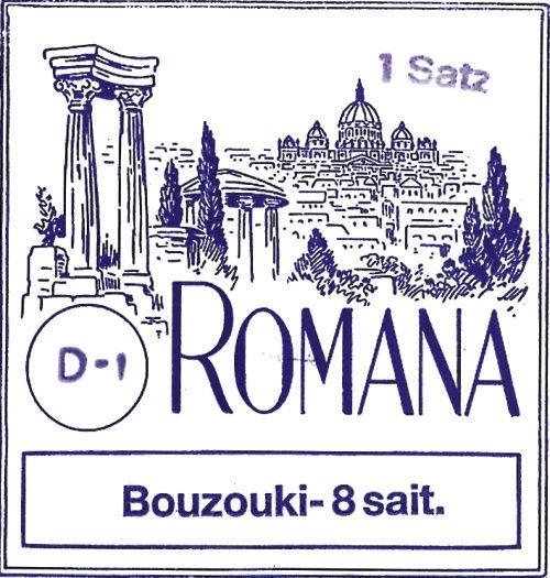 Corzi pentru bouzouki grecesc cu 8 corzi Romana Greek Bouzouki 8Strings