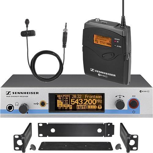 Sistem wireless cu transmitator de buzunar si microfon lavaliera Sennheiser EW 512 G3