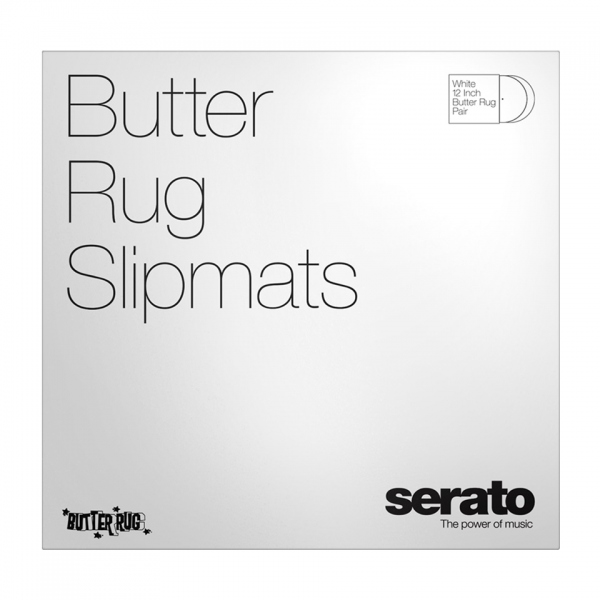 Serato Butter Rugs Slipmats White