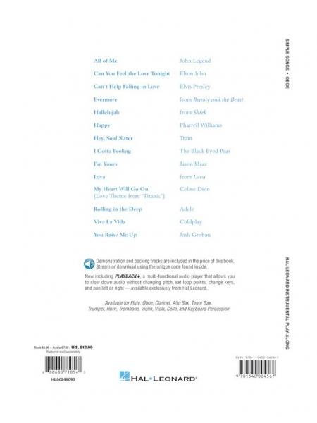 No brand Simple Songs: Oboe