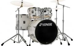 Set de tobe acustice din 5 piese Sonor AQ1 Stage Set Piano White