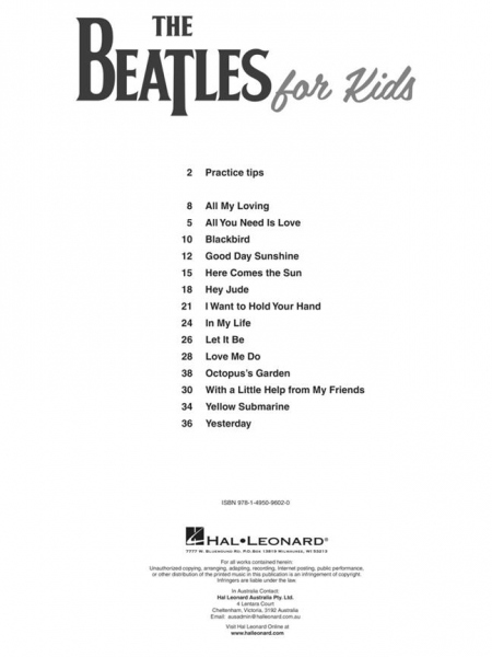 No brand The Beatles for Kids