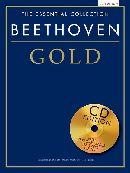 No brand THE ESSENTIAL COLLECTION BEETHOVEN GOLD PIANO BOOK/CD