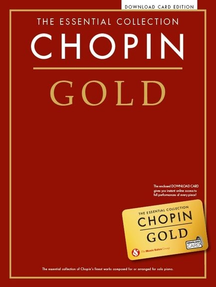 No brand THE ESSENTIAL COLLECTION CHOPIN GOLD PIANO BOOK & DOWNLOAD CARD
