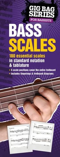 No brand THE GIG BAG BOOK OF BASS SCALES BASS GUITAR TAB BOOK