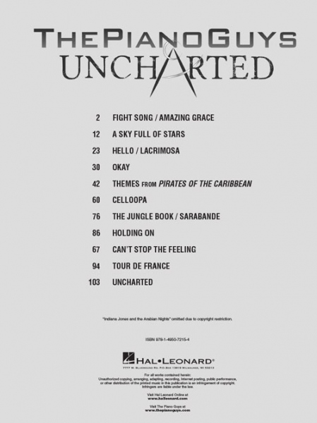 No brand The Piano Guys: Uncharted