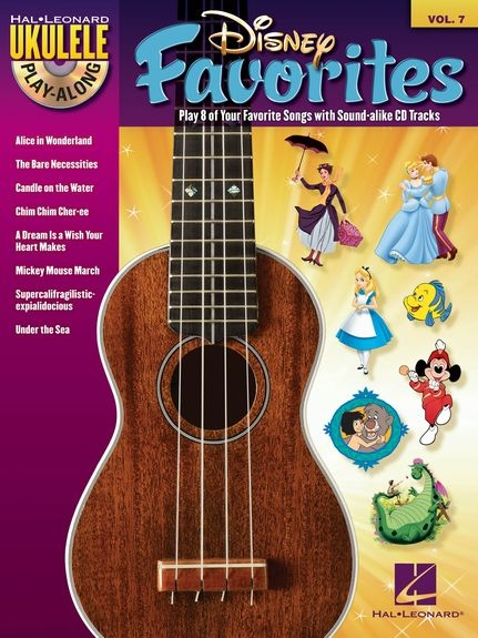 No brand UKULELE PLAY ALONG VOLUME 7 DISNEY FAVORITES