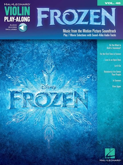 No brand Violin Play-Along Volume 48: Frozen (Book/Online Audio)