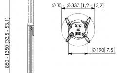 Suport pentru videoproiector cu inaltime ajustabila Vogels PPC1585 Silver