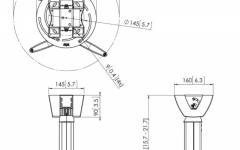 Suport pentru videoproiector cu inaltime ajustabila Vogels PPC2540 Silver