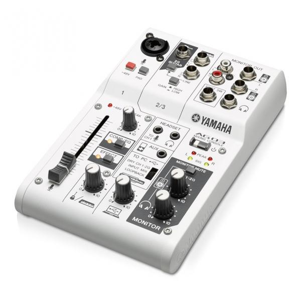 Mixer multifunctional cu 3 canale + interfata USB 2.0 Yamaha AG03